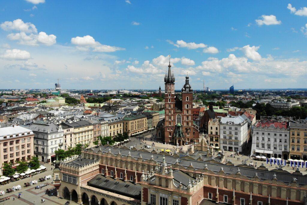 krakowski rynek w wielkanoc